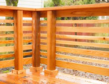 Japanese Inspired Cedar Deck