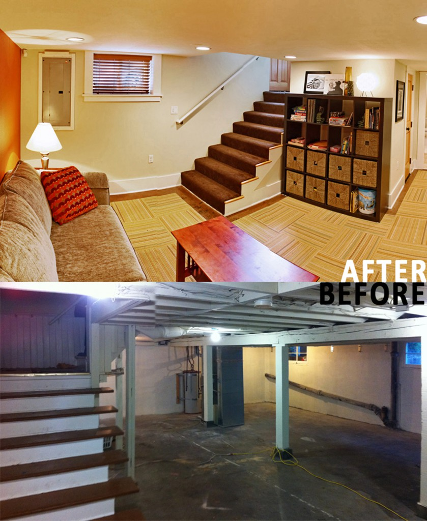 Basement Remodeling Pictures Before And After Hollywood Basement Renovation  Tfgs